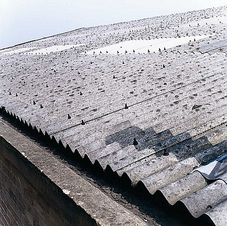 test roof for asbestos contamination